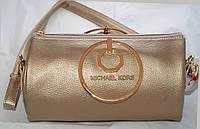 Женская мини сумкаMichael Kors (Майкл Корс), золотистая, фото 1