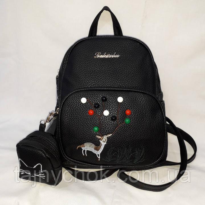 Средний черный женский рюкзак
