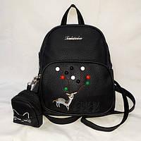 Средний черный женский рюкзак, фото 1