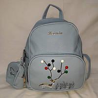 Средний женский нежно-голубой рюкзак, фото 1