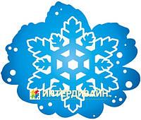 Декорация из картона Снежинка