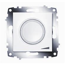 Светорегулятор (диммер) поворотный с подсветкой 800 Вт Cosmo белый
