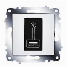 Розетка-зарядка USB 0,5A Cosmo белый