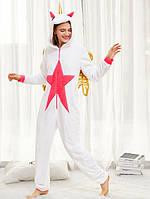 Кигуруми Единорог белый с крыльями / пижама кигуруми L (высота 167-174 см)