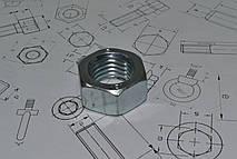 Гайка М10 оцинкованная с мелкой резьбой ГОСТ 5915-70
