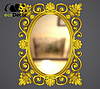 Зеркало настенное Valencia в золотой раме, фото 2