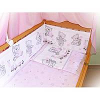 """Детское постельное белье из 6 ед.(без балдахина и кармана)- """"Мишки игрушки"""" № 144"""