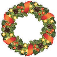Декорация картонная Веночек рождественский