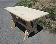 Деревянный стол из сосны прямой 1400