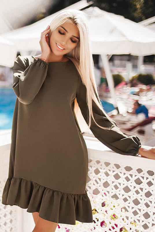 Недорогое женское платье Розалия хаки