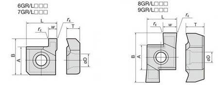 7GR100 PR9300 Твердосплавная пластина для токарного резца , фото 2