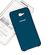 Силиконовый чехол на Samsung J5 Prime Soft-touch Forest Green