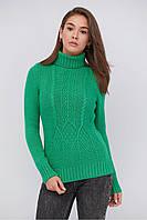 Зимний женский свитер теплый под горло