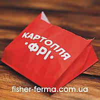 Упаковка для картошки фри (средний) 105х100х50 мм (1000 шт)
