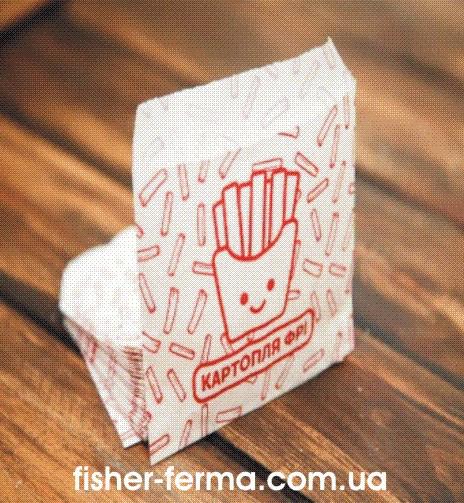 Упаковка для картошки фри мини 105х120х0 мм (1000шт)