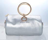 Женская мини сумкаMichael Kors (Майкл Корс), серебристая, фото 1