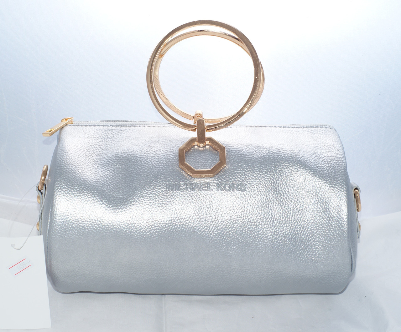 Женская мини сумкаMichael Kors (Майкл Корс), серебристая