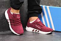Мужские кроссовки Adidas Equipment - Адидас эквипмент  бордовые  кросівки  чоловічі адідас (Топ реплика 40d166ec71481
