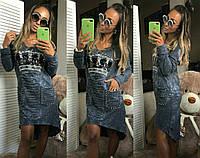 Платье туника джинсовое  25235, фото 1