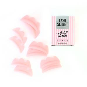 Набор силиконовых бигуди Lash Secret, 5 пар для ламинирования ресниц