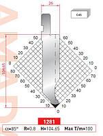 Пуансон 1281 H=104,65+30mm 85° R=0,8 L=805 секц.