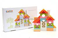 Детский деревянный конструктор Домик Cubika(Кубика) 11353. Деревянные эко игрушки