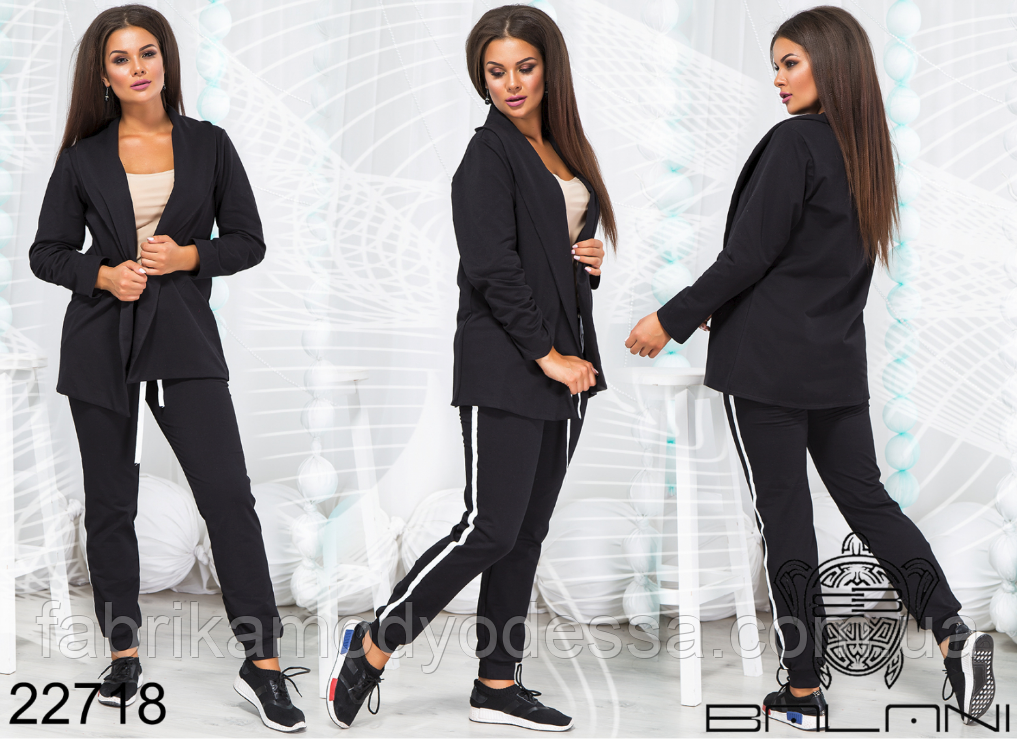 0ff7bac0b925b Женский спортивный костюм с жакетом большого размера недорого Украина  интернет-магазин (р. 48-54 ), цена 948 грн., купить в Одессе — Prom.ua  (ID#745443805)