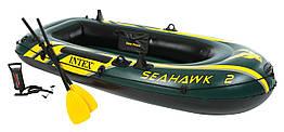 Надувная лодка двухместная для рыбалки Intex 68347 Seahawk-2