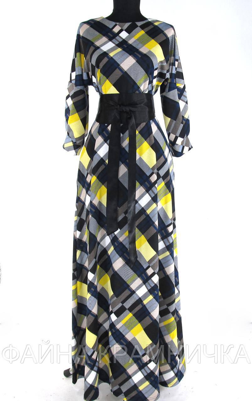 "Сукня ""Ліа"" довга з паском рр.44-54"