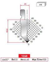 Пуансон 1260 H=66,6+30mm 85° R=0,8 L=835