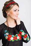 Соблазнительная женская рубашка из шифона с вышивкой  44-56 рр, фото 2