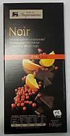 Шоколад черный 72 % Noir Бельгия с апельсином 100 г.