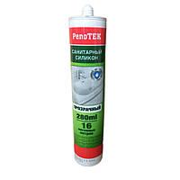 Санитарный силиконовый герметик белый Penotek 280мл