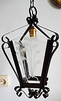 Подвесной светильник (винтаж, инкрустация, Германия)