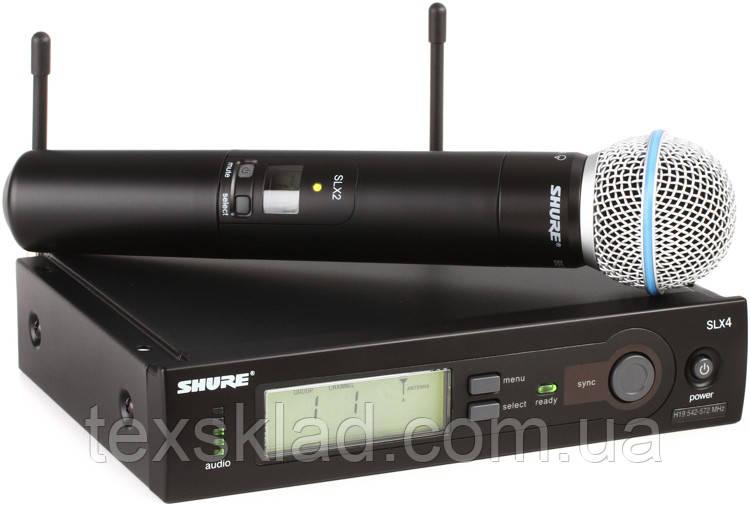 Радіомікрофон вокальний SHURE Beta58A SLX4