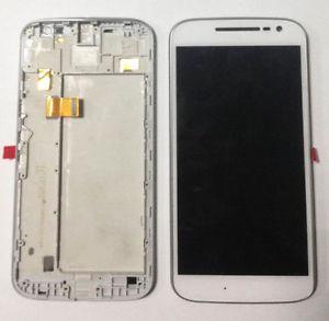 Дисплей для Motorola XT1620 Moto G4/XT1621/XT1622/XT1624/XT1625/XT1626 с тачскрином и рамкой белый Оригинал