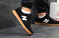 Кроссовки мужские New Balance популярные качественные под джинсы (черные), ТОП-реплика, фото 1