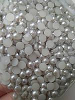 Полужемчуг Светло серый, 5 мм. Цена за 100 шт, фото 1