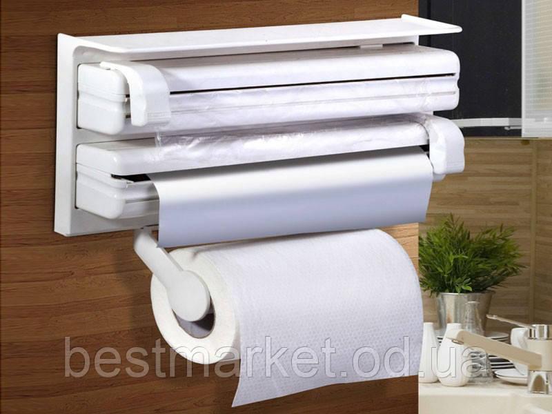 Кухонный Диспенсер для Бумажных Полотенец, Пищевой Пленки и Фольги Triple Paper Dispenser