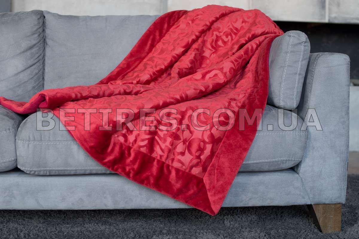 Плед 130х170 MORA GENOVA (RED) красный