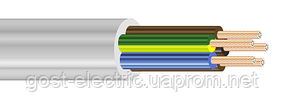 ПВС нг 5х1,0 Провод со скрученными медными жилами в ПВХ изоляции и ПВХ оболочке (не поддерживающий горения)