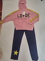 Костюм спортивный трикотажный для девочки р.134-164 Grace 146/152, розово-синий