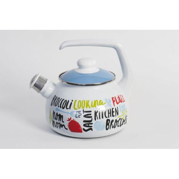 Чайник емальований METROT 2701 2,5л Брокколі 183810