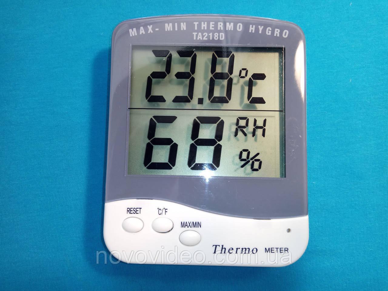 Гигрометр с термометром ТА 218d для помещения