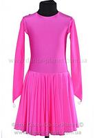 """Платье-бейсик для спортивно - бальных танцев """"09а Розовый"""""""