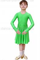 """Платье-бейсик для спортивно - бальных танцев """" 07 Салатовый """""""