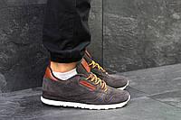 Кроссовки мужские Reebok замшевые спортивные для  бега 44 размер (коричневые), ТОП-реплика, фото 1