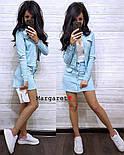 Спідничні жіночий джинсовий костюм 910730, фото 2