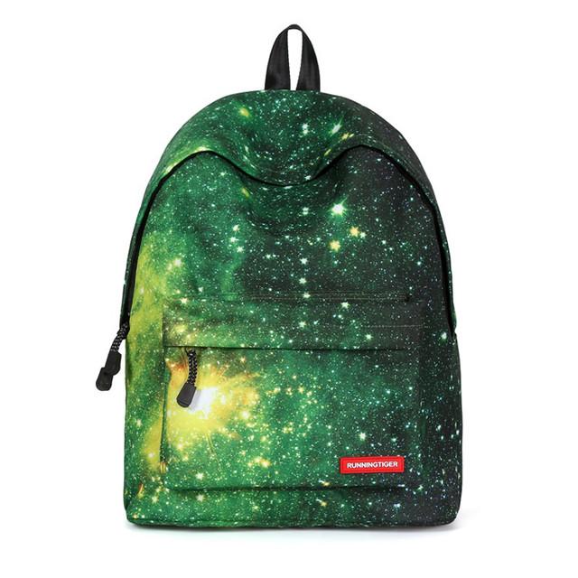 Школьный рюкзак Космос зеленый
