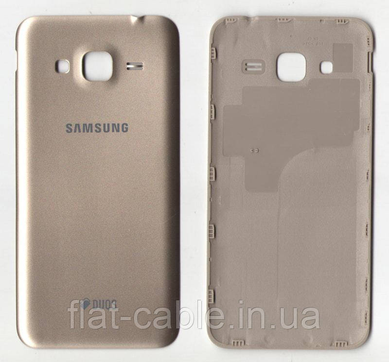 Кришка задня Samsung J320H/ DS Galaxy J3 Золотистий
